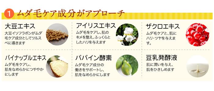 パイナップル豆乳ローションの成分・効果について